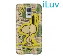 ESTUCHE ILUV P/GALAXY S5 SNOOPY HARDSHELL CASE GREEN (PN SS5SNOOGN)