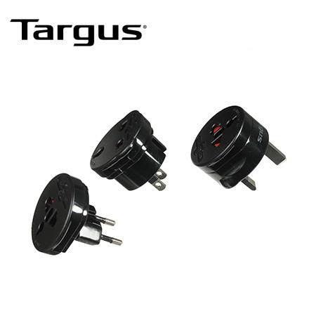 CARGADOR D/PARED TARGUS 3 INTERCHANGEABLE ADAPTERS BLACK PPOLYCARBONATE (PN APK01US1)