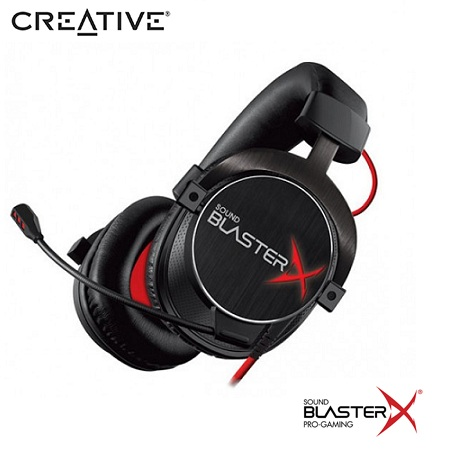 AUDIFONO C/MICROF. CREATIVE GAMING H7 TOURNAMENT SBX BLACK (PN 70GH033000001)