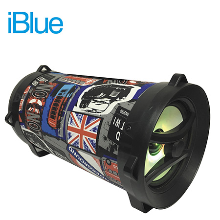 PARLANTE IBLUE BAZOOKA BLUETOOTH USB/MICRO SD/FM/AUX 5W  BRITISH (PN CH-M01UK)