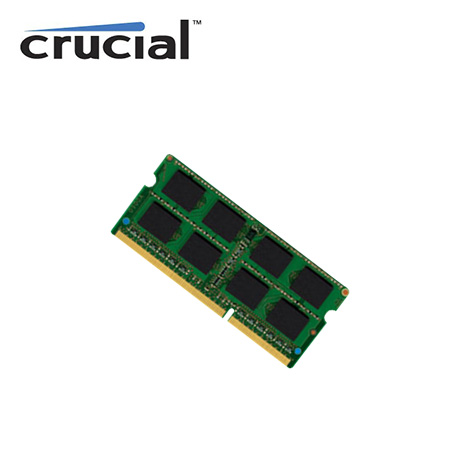 MEMORIA CRUCIAL 2GB DDR3 CL11 SODIMM PC3-12800 204 PINES (CT25664BF160B)