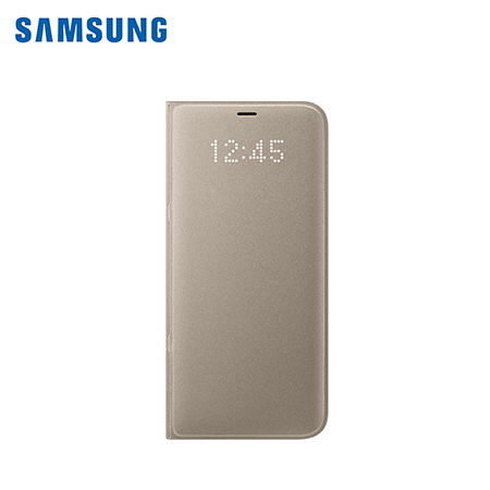 ESTUCHE SAMSUNG P/GALAXY S8 PLUS LED VIEW COVER GOLD (PN EF-NG955PFEGWW)*