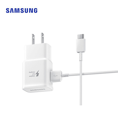 CARGADOR D/PARED SAMSUNG EP-TA20 TIPO C 2AMP FAST CHARGING P/GALAXY S8/S8+/S9/S9+/NOTE8 WHITE (PN EP-TA20JWSCGMX)