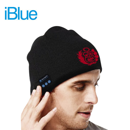 GORRO BLUETOOTH IBLUE URBAN FM LANA ESCUDO BLACK (PN UHB01-ESC)