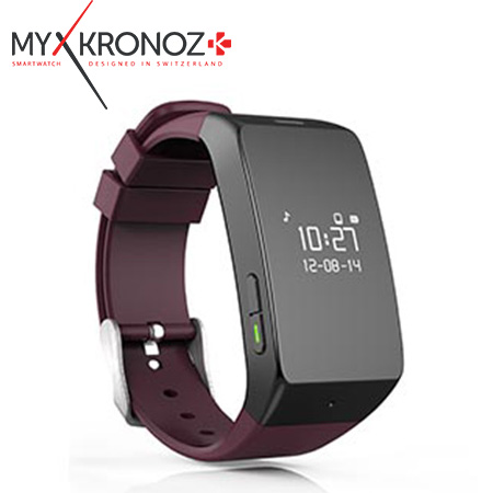 RELOJ INTELIGENTE MYKRONOZ ZEWATCH2 BLUETOOTH BURGUNDY (PN KRZEWATCH2-BURGUNDY)