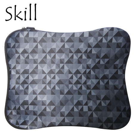 "FUNDA SKILL P/LAPTOP 14"" SLEEVE BLACK ORIGAMI (PN LS329-14-BK)"