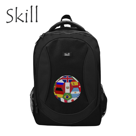 "MOCHILA SKILL BACKPACK 600D GRID NYLON 15.6"" PELOTA (PN EB9012-BALL)"