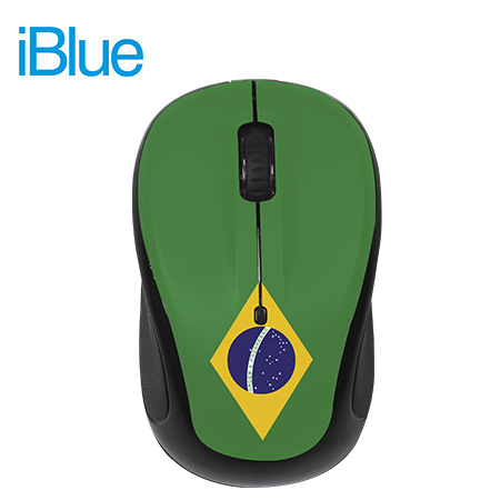 MOUSE IBLUE OPTICAL WIRELESS USB MO253 BRASIL GREEN/BLACK (PN MO253-BRA)