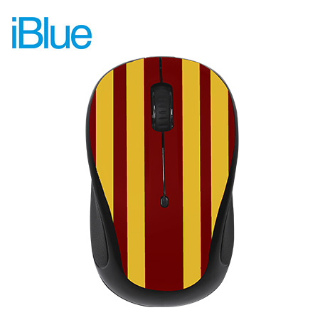 MOUSE IBLUE OPTICAL WIRELESS USB MO253 ESPAÑA RED/BLACK (PN MO253-SPA)*