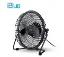 VENTILADOR DE MESA IBLUE USB BLACK (PN BS-F2041)