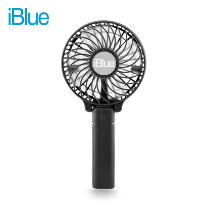 VENTILADOR PORTATIL IBLUE CON BATERIA RECARGABLE BLACK (PN BS-F205P-BK)*