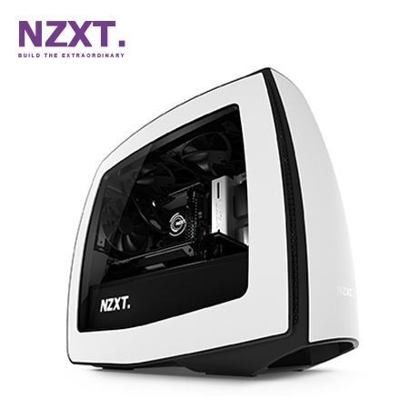 CASE NZXT MANTA MINI ITX MATTE WHITE/BLACK (PN CA-MANTW-W1)