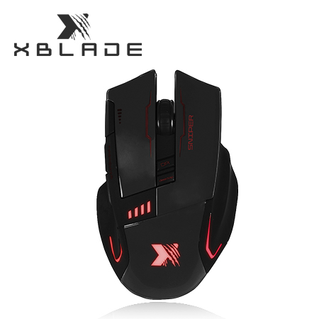 MOUSE XBLADE GAMING SNIPER G909 3200 DPI USB BLACK MULTICOLOR (PN GXB-G909BK)