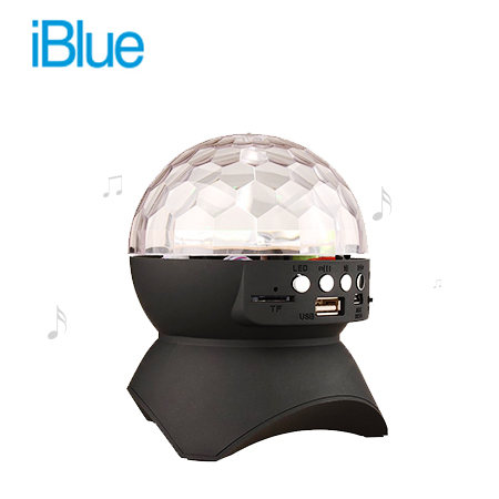 PARLANTE IBLUE BLUETOOTH BOLA DISCO USB / MICRO SD (PN JT-313-BK)