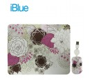KIT PAD + MOUSE IBLUE RETRACTIL USB FLOWER (PN XMK-886-FL)
