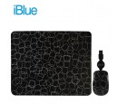 KIT PAD + MOUSE IBLUE RETRACTIL USB FUNKY SQUARES (PN XMK-886-FS)