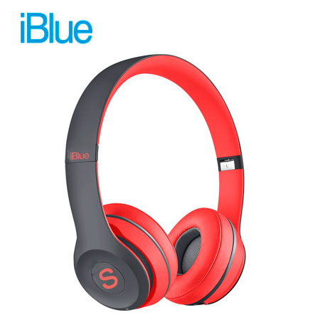 AUDIFONO C/MICROF. IBLUE SCREAM S019 BLUETOOTH/FM/MICRO SD BLACK/RED (PN S019-BR)