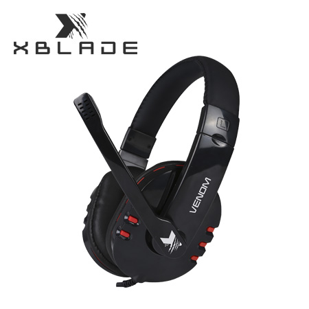 AUDIFONO C/MICROF. XBLADE GAMING VENOM HG8311 BLACK/RED (PN GXB-HG8311)