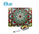 KIT PAD + MOUSE IBLUE RETRACTIL USB FLOWER V2 (PN XMK-886-FL)