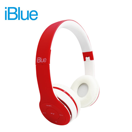 AUDIFONO C/MICROF. IBLUE SCREAM S019 BLUETOOTH/FM/MICRO SD RED/WHITE (PN S019-RW)**