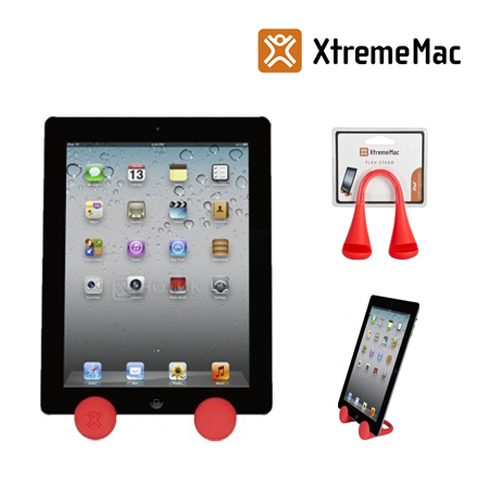 BASE XTREMEMAC P/IPAD 2/3 FLEX STAND RED (PN PAD-ST3-73)