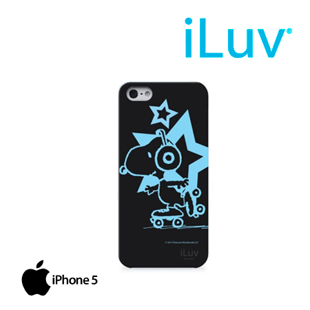 ESTUCHE ILUV P/IPHONE 5 SNOOPY GLOW IN THE DARK BLACK (PN ICA7T381BLK)