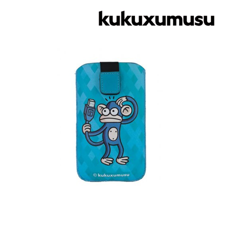 FUNDA KUKUXUMUSU P/GALAXY SIII/SIMILARES MONKEY USB SIZE XL BLUE (PN KUFM142)
