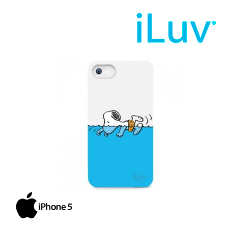 ESTUCHE ILUV P/IPHONE 5 SNOOPY HARDSHELL CASE WHITE/SKYBLUE (PN ICA7H383WHT)