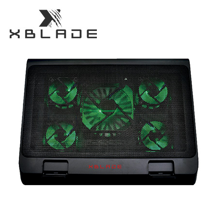 "COOLER XBLADE P/NOTEBOOK H501-BK ILUMINADO 17"" 5 FAN USB BLACK (PN GXB-H501-BK)"