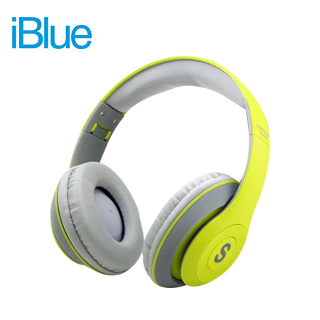 AUDIFONO C/MICROF. IBLUE SCREAM S019 BLUETOOTH/FM/MICRO SD GREEN/GRAY (PN S019-G)