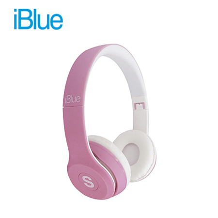 AUDIFONO C/MICROF. IBLUE SCREAM S019 BLUETOOTH/FM/MICRO SD PINK/WHITE (PN S019-PK)